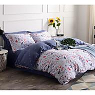 Geometric 4 Piece Cotton Cotton 1pc Duvet Cover 2pcs Shams 1pc Flat Sheet