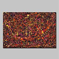 billiga Abstrakta målningar-Hang målad oljemålning HANDMÅLAD - Abstrakt Abstrakt / Moderna Utan innerram