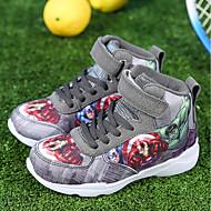baratos Sapatos de Menino-Para Meninos Sapatos Tule / Tecido Outono Conforto / Curta / Ankle Tênis Basquete Cadarço para Cinzento / Vermelho / Azul
