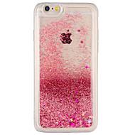 Caso para apple iphone 7 plus iphone 7 cover fluir líquido capa traseira caso brilho brilhar hard pc para iphone 6s mais iphone 6 plus