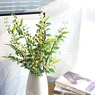 billige Kunstige blomster-2 deler 2 Gren Silke Styropor Polyester Planter Bordblomst Kunstige blomster