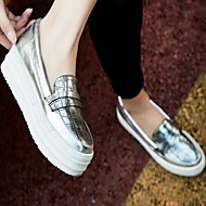 Women's Shoes PU Spring Summer Comfort Loafers & Slip-Ons For Casual Gold Silver