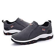 tanie Obuwie męskie-Męskie Komfortowe buty PU Wiosna / Jesień Mokasyny i buty wsuwane Czarny / Ciemno szary / Khaki