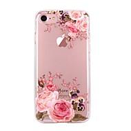 Para iPhone X iPhone 8 Case Tampa Ultra-Fina Transparente Estampada Capa Traseira Capinha Flor Macia PUT para Apple iPhone X iPhone 8