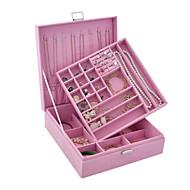 1pc fiolett åpen type smykker boks ring øredobber oppbevaringsboks