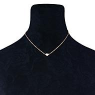 Dame Halskædevedhæng - Hjerte minimalistisk stil Guld, Sølv Halskæder Til Bryllup, Fest, Fødselsdag