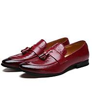 Muškarci Cipele Mikrovlakana Proljeće Jesen svečane cipele Natikače i mokasinke S resicama za Kauzalni Ured i karijera Vanjski Zabava i