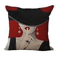 Capa de travesseiro de algodão de estilo retro de moda 1pcs