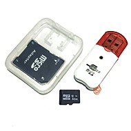 baratos -Cartão de memória 32gb microsdhc tf com leitor de cartões usb e sdhc sd adapter