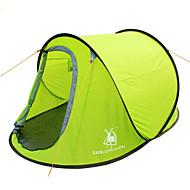 GAZELLE OUTDOORS 2 personer Telt Enkelt camping telt Et Værelse Pop up telt Vandtæt Vindtæt Ultraviolet Resistent Foldbar for Vandring