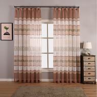 Window Treatment Vintage , Geometrisk Stue Materiale Gardiner Skygge Hjem Dekor For Vindu