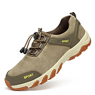 cheap Men's Athletic Shoes-Hiking Shoes Men's Athletic Shoes Comfort Leather Suede Spring Fall Athletic Casual Outdoor  Comfort Split Joint Flat Heel Khaki Blue Flat