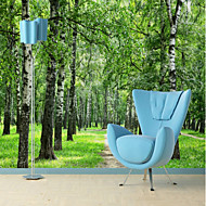 billige Tapet-Trær / Blader 3D Klassisk Hjem Dekor Orientalsk Moderne / Nutidig Tapetsering, Lerret Materiale selvklebende nødvendig Veggmaleri, Tapet