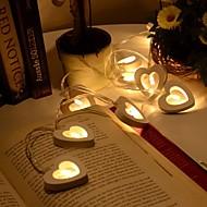 10 led warme houten hartvorm snaar feestverlichting voor kerstmis kerstfeest bruiloft decoratie feest valentijnsdag decoratie
