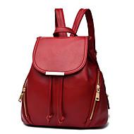 baratos Mochilas-Mulheres Bolsas PU mochila para Ao ar livre Rosa / Azul Escuro / Vinho
