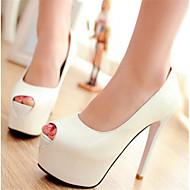 Feminino Sapatos Couro Ecológico Verão Conforto Sandálias Para Casual Branco Vermelho Amêndoa