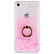 Etui Til Apple iPhone 7 Plus iPhone 7 Flydende væske Ringholder Bagcover Glitterskin Hårdt PC for iPhone 7 Plus iPhone 7 iPhone 6s Plus
