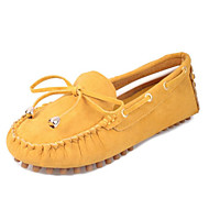 Women's Shoes Real Leather PU Spring Comfort Flats For Casual Black Yellow Green Blue