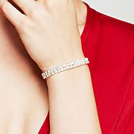 Žene Narukvice s privjeskom Umjetno drago kamenje Rhinestones Elegantno Vjenčan luksuzni nakit kostim nakit Double-layer Glina Imitacija