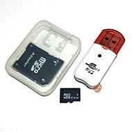8GB microsdhc tfメモリカード(usbカードリーダーとsdhc sdアダプタ付き)