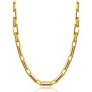 Homens Gargantilhas Jóias Forma Geométrica Chapeado Dourado Natureza Góticas Clássico Elegant Bling Bling Jóias Para Diário Palco Escola