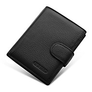 Men Bags Cowhide Money Clip for Shopping Daily Casual All Seasons Black Coffee