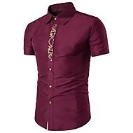 Majica Muškarci Dnevno Izlasci Pamuk Jednobojni Vez