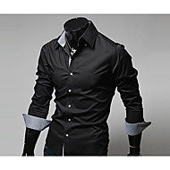 Majica Muškarci - Posao Color block Klasični ovratnik Slim Pamuk