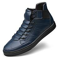Masculino Tênis Conforto Botas de Neve Curta/Ankle Sapatos de mergulho Outono Inverno Pele Real Pele Napa Pele Casual Festas & Noite