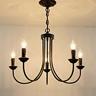 billige Takbelysning og vifter-5-Light Candle-stil Lysekroner Omgivelseslys - Stearinlys Stil, 110-120V / 220-240V Pære ikke Inkludert / 5-10㎡ / E12 / E14