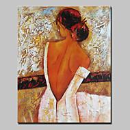 Handgeschilderde Mensen Verticaal,Abstract Modern Eén paneel Canvas Hang-geschilderd olieverfschilderij For Huisdecoratie