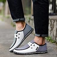 baratos Sapatos Masculinos-Homens Solas Claras Couro Ecológico Primavera / Outono Conforto / Formais Tênis Caminhada Preto / Verde / Azul