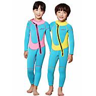 Dive&Sail Djevojčice Dječaci 2mm Dugo mokro odijelo Ugrijati Quick dry Anatomski dizajn Prozračnost Neopren Ronilačko odijelo Dugih rukava