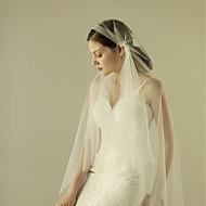 Μίας Βαθμίδας Χωρίς τελείωμα Πέπλα Γάμου Πέπλα Δαχτύλων με Βολάν Τούλι / Mantilla