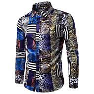 Camicia Per uomo Lusso / Vintage Con stampe, Leopardata / Animali Colletto classico / Manica lunga / Primavera / Autunno / Taglia piccola