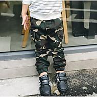 Drenge Bukser camouflage-Bomuld Polyester Forår Efterår