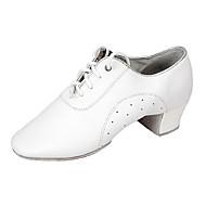 billige Moderne sko-Herre Latin Nappa Lær Lær Joggesko Høye hæler Profesjonell Lav hæl Hvit Kan spesialtilpasses
