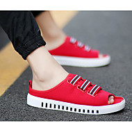 Muške Sandale Udobne cipele PU Ljeto Kauzalni Obala Crn Crvena Do 2.5 cm