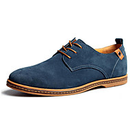 Men's Shoes Nubuck leather Fall Winter Comfort Formal Shoes Oxfords Lace-up For Wedding Casual Party & Evening Office & Career Brown