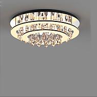 billige Taklamper-Moderne / Nutidig Krystall Takplafond Nedlys Til Stue Soverom Innendørs Varm Hvit Kald Hvit 110-120V 220-240V 1200lm Pære Inkludert