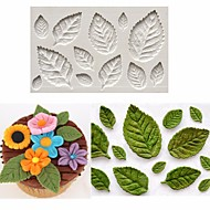 Rose Leaf Leaves Fondant Cake Silicone Molds Flower Cupcake Decorating Mould Baking Tools Random Color