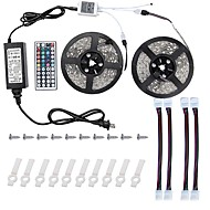 cheap LED Strip Lights-Led Light Strip Kit 5050 10M(2*5M) 600leds RGB 60leds/m with 44key Ir Controller and 6A Power Supply(UL) and Gift a Set Mounting Bracket