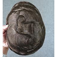 自然なヘアライン100%の人間の髪6#色のストレートヘアトープ男性のための