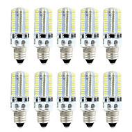billige Kornpærer med LED-brelong 10 stk smd3014 dimbar 80led maislys hvit / varm hvit / ac110v / ac220v / e11 / e12 / e17