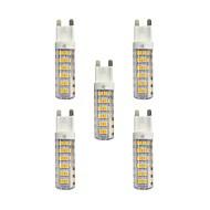 baratos Luzes LED de Dois Pinos-5pçs 4.5W 360lm G9 Luminárias de LED  Duplo-Pin T 76 Contas LED SMD 2835 Branco Quente / Branco 220-240V / RoHs