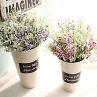 1 Deler 1 Gren PU Planter Bordblomst Kunstige blomster