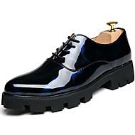 baratos Sapatos Masculinos-Homens Sapatos formais Couro Envernizado Outono / Inverno Oxfords Preto / Festas & Noite / Impressão Oxfords