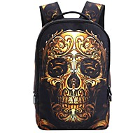 Unisex Bags Polyester Backpack Zipper for Casual All Seasons Gold White Dark Gray Red black Black/White
