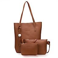Χαμηλού Κόστους Σετ τσάντες-Γυναικεία Τσάντες PU Σετ τσάντα Φερμουάρ Ρουμπίνι / Ανθισμένο Ροζ / Κίτρινο