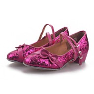 billige Moderne sko-Dame Moderne Paljett PVC Lær Kunstlær Glitter Høye hæler Trening Fuksia